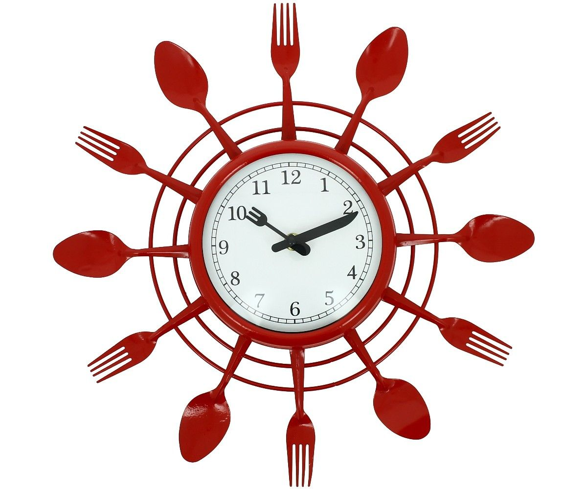 horloge cuisine rouge grande horloge pendule. Black Bedroom Furniture Sets. Home Design Ideas