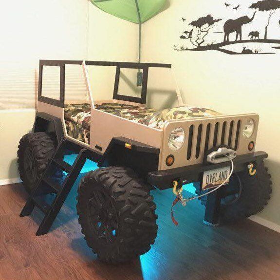 Jeep Bed Plans - Twin Size Car Bed (With images) | Jeep ...