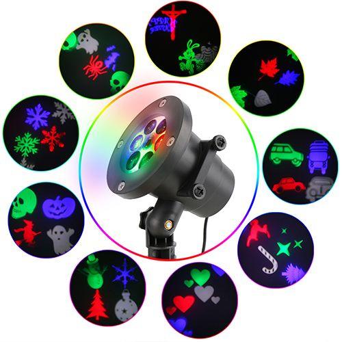 9 Slides,Waterproof Christmas Laser Projector Lights Best for