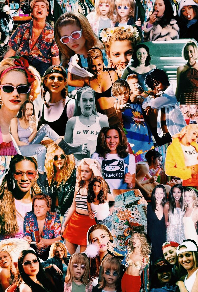 Pinterest E P I C Collage Background 90s Wallpaper