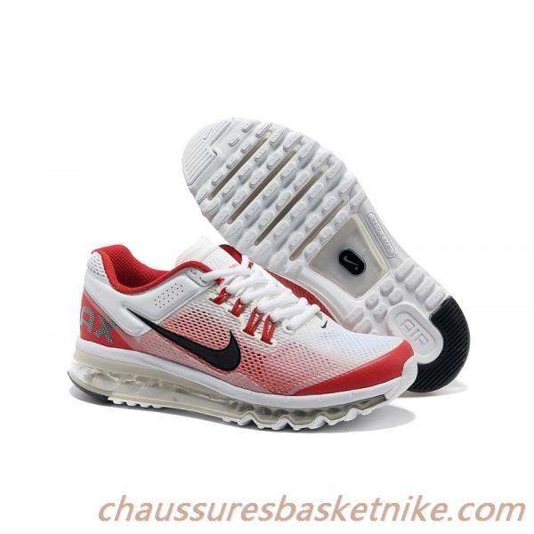 meilleur site web 6efae 4caf8 Nike Air Max 2013 Chaussures Blanc Rouge Vente Chaude ...