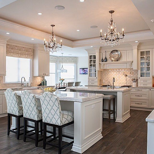 Large Kitchen Island Designs And Plans: Pin On TWO ISLAND KITCHENS