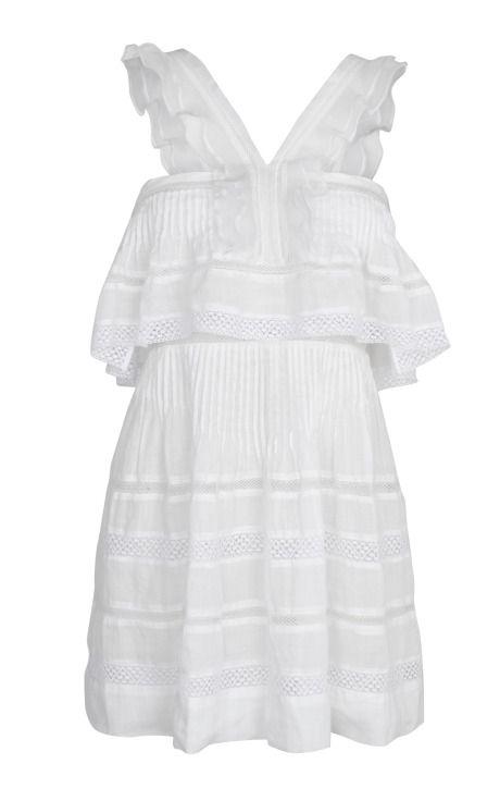 Shop White Obira Dress by Isabel Marant for Preorder on Moda Operandi