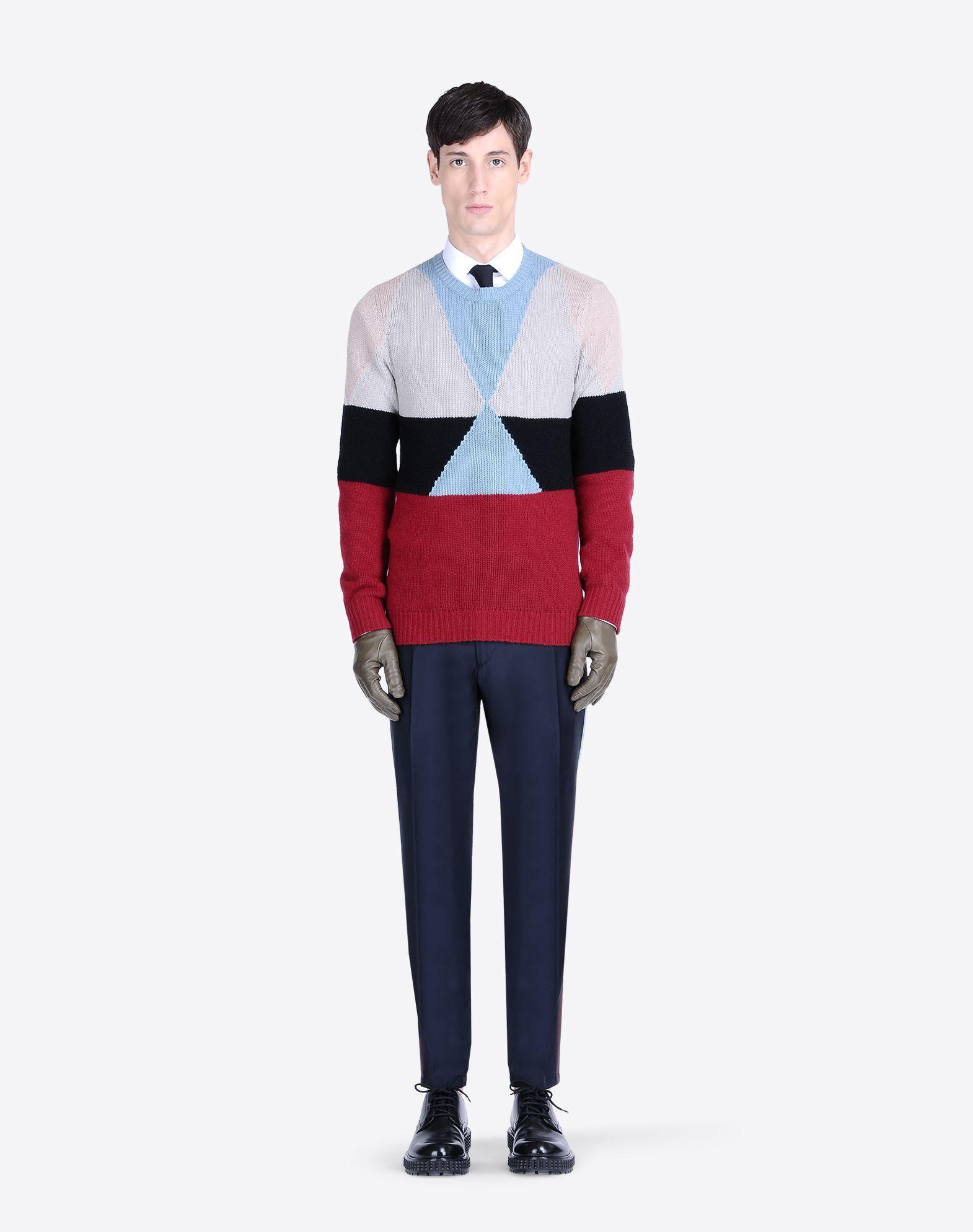 60ef00e6fc Valentino Color Block Fall Winter 2015 Menswear Collection