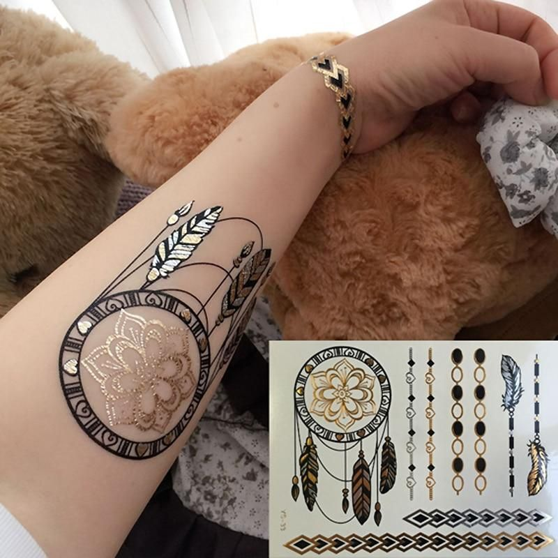 f39e83038 Dreamcatcher Flowers Temporary Tattoo in 2019 | Products | Metal ...