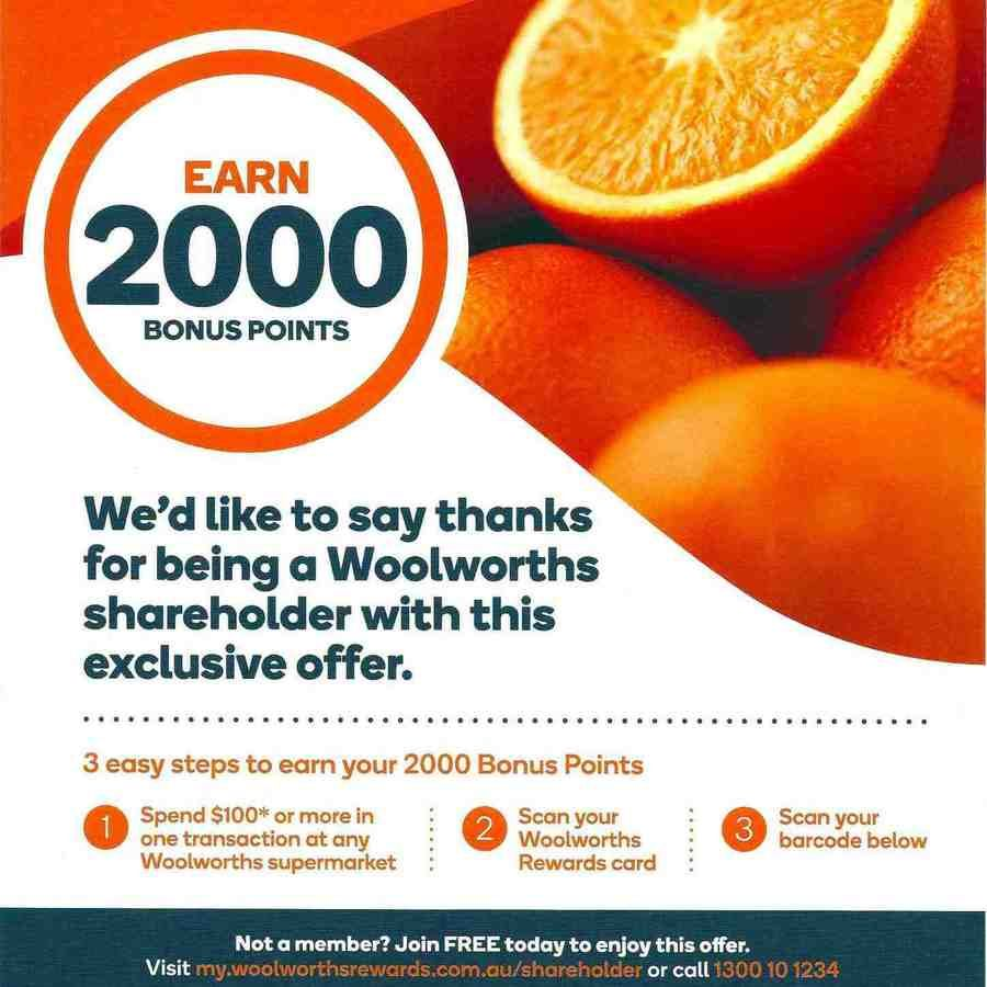 2000 bonus woolworths rewards points with 100 spend 2000 bonus woolworths rewards points with 100 spend woolworths in store negle Images