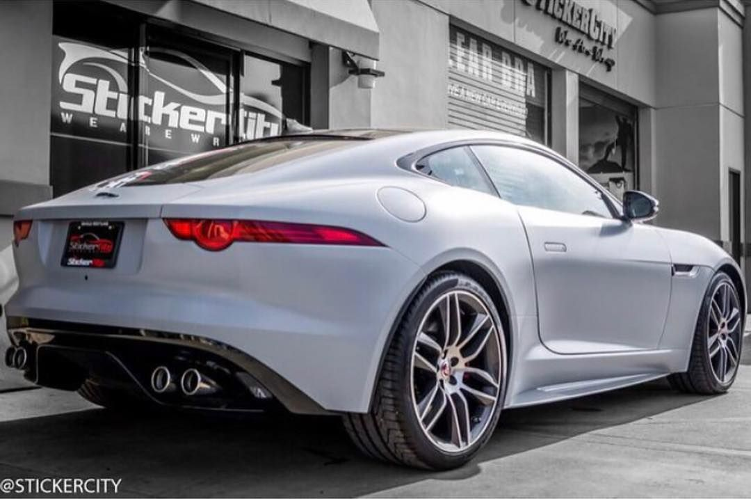 Jaguar F-Type R wrapped by @stickercity Check out @stickercity and their insane wraps • Get the wet 💦 look 👀@stickercity  Clear Bra Paint Protection  Vehicle Restyling Wraps Chrome Delete