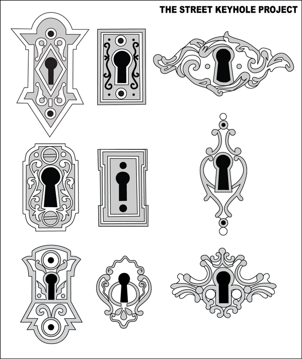 Manually Vectorized With Adobe Illustrator Cs3 Over Photos Of Old Keyholes They Are Meant To Be Used As Stickers For T Keyhole Tattoo Hole Drawing Lock Tattoo