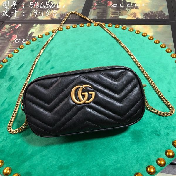 fa1c6da23 Gucci 546581-3 GG Marmont mini chain bag | Gucci Shoulder Bag | Bags ...