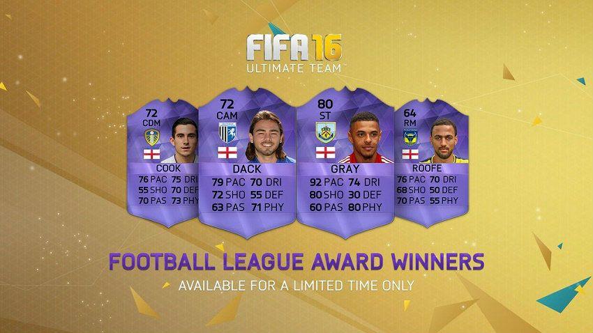 FIFA 16 Football League Awards Hero In-form Cards for FUT
