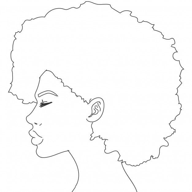 Download Silhouette Of Woman With Curly Hair For Free Ad 1 Download Silhouette Of Woman With Curly Hair For In 2020 Outline Art Line Art Drawings Black Art Painting