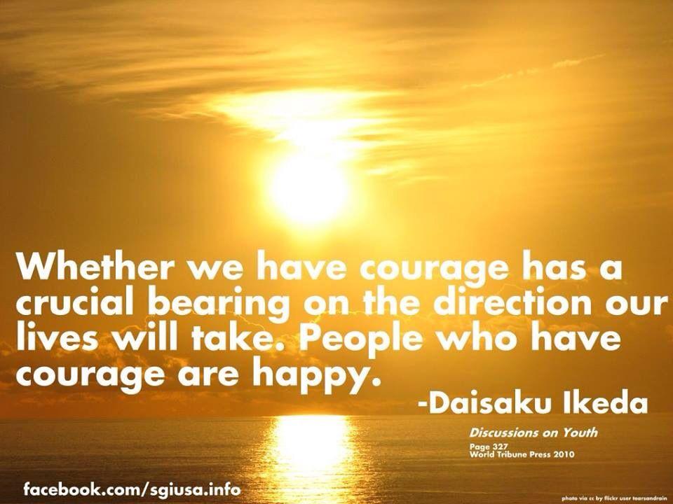 Sensei's Words Of Wisdom | Ikeda, Ikeda quotes, Life