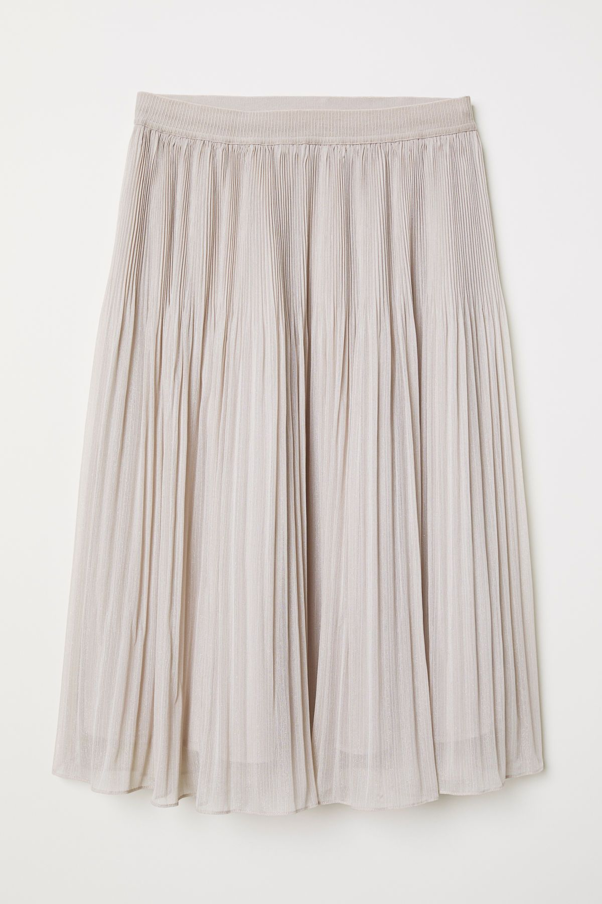 7ed791a455 Knee-length, pleated skirt in an airy weave containing glittery threads