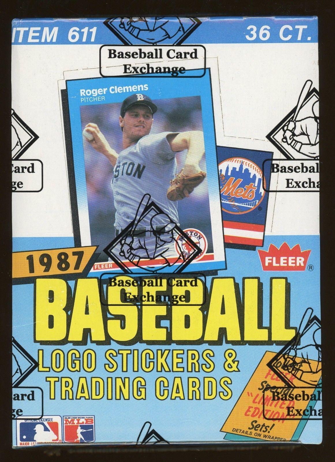 1987 fleer baseball unopened wax pack box bbce sealed fasc