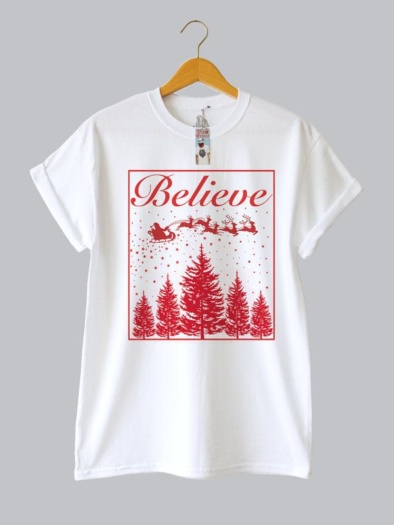 Believe Christmas Tee, By Ben Prints On Etsy