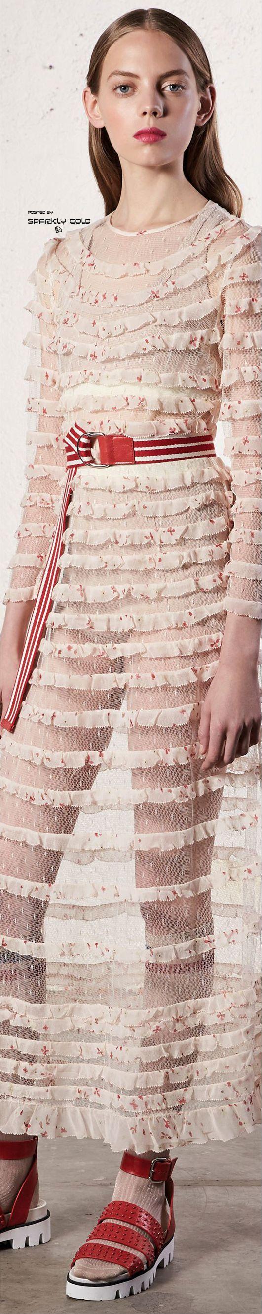 Pink dress design 2018  Red Valentino Resort   Fashion  Pinterest  Resorts Valentino