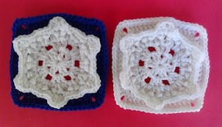 """One Crochet Day at a Time: SNOWFLAKE BREEZE 6"""" SQUARE"""