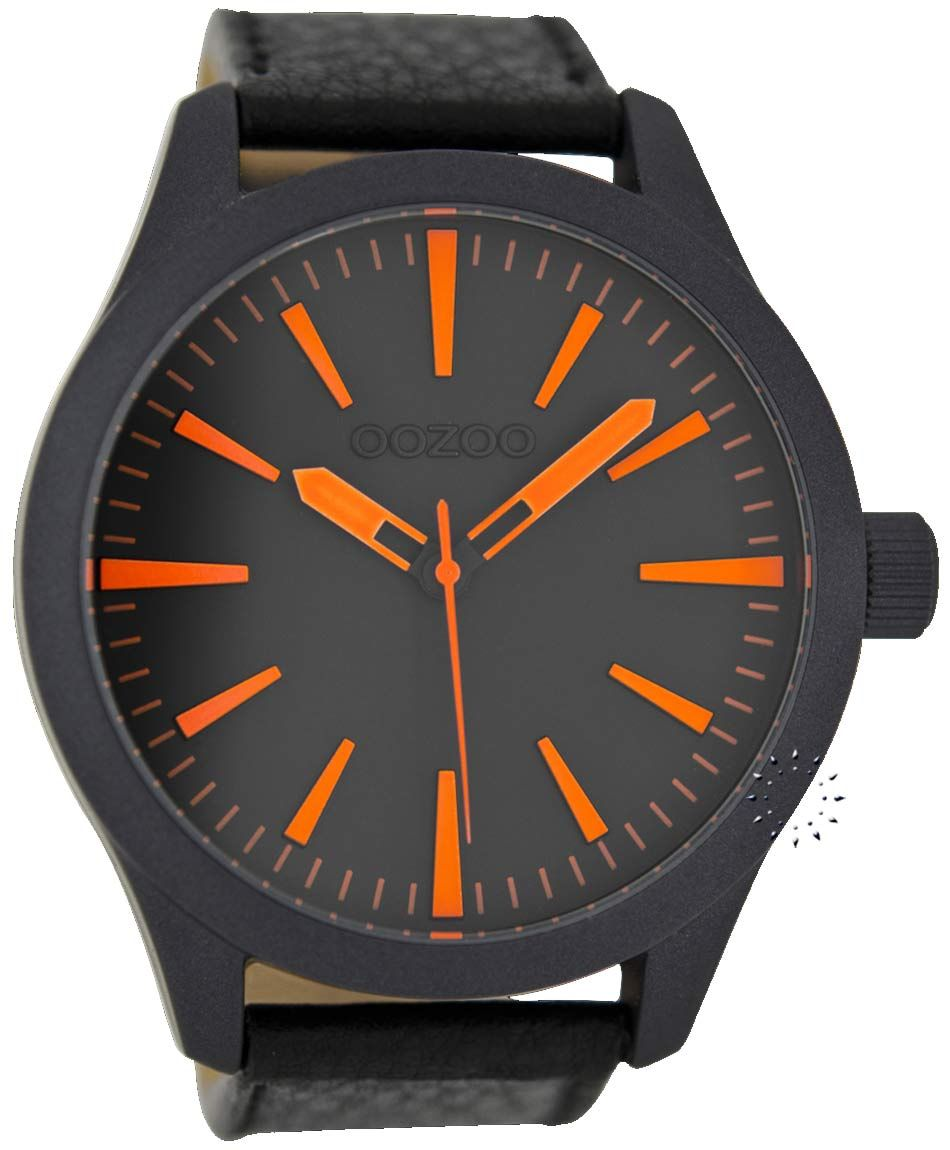 OOZOO Large Timepieces Black Leather Strap Μοντέλο  C6414 Η τιμή μας  65€  http a218d76934a