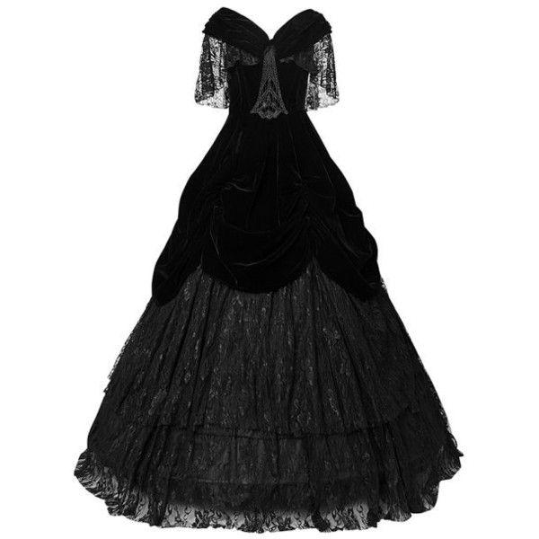 Lady De La Morte Gothic Prom Dress By Punk Rave 180 Liked On