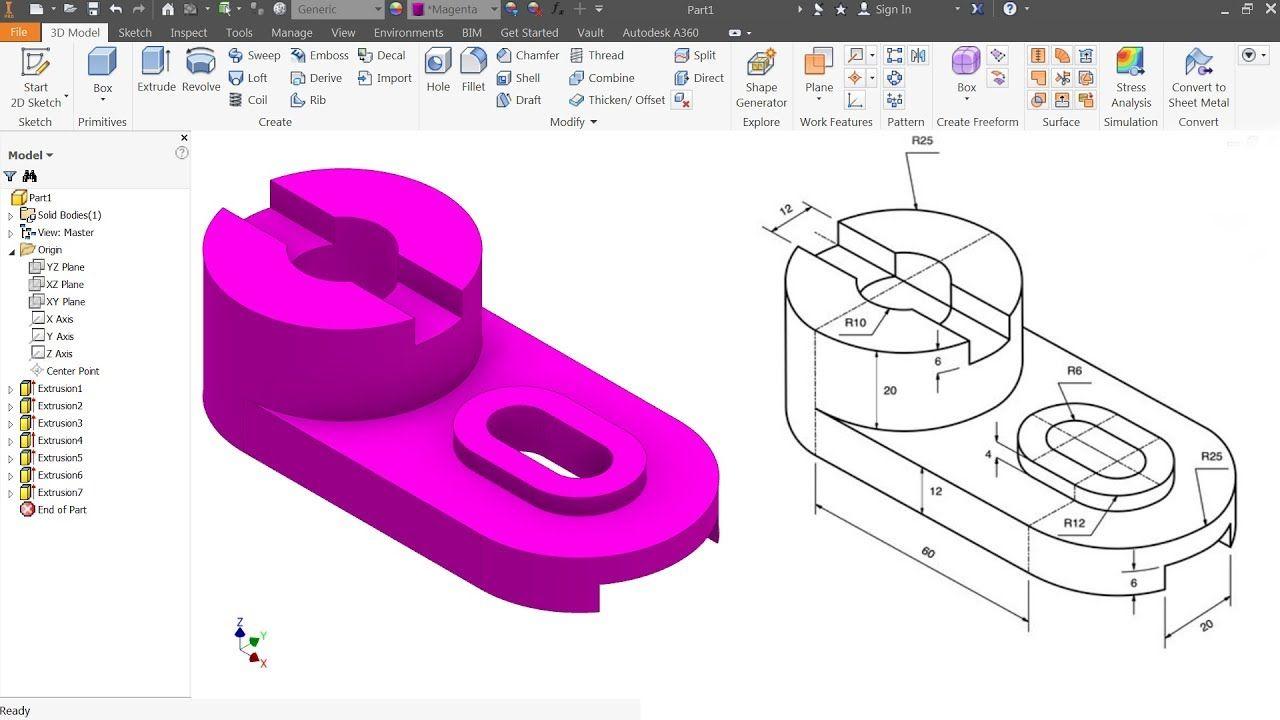 Strange Autodesk Inventor Tutorial For Beginners Exercise 8 Download Free Architecture Designs Lukepmadebymaigaardcom