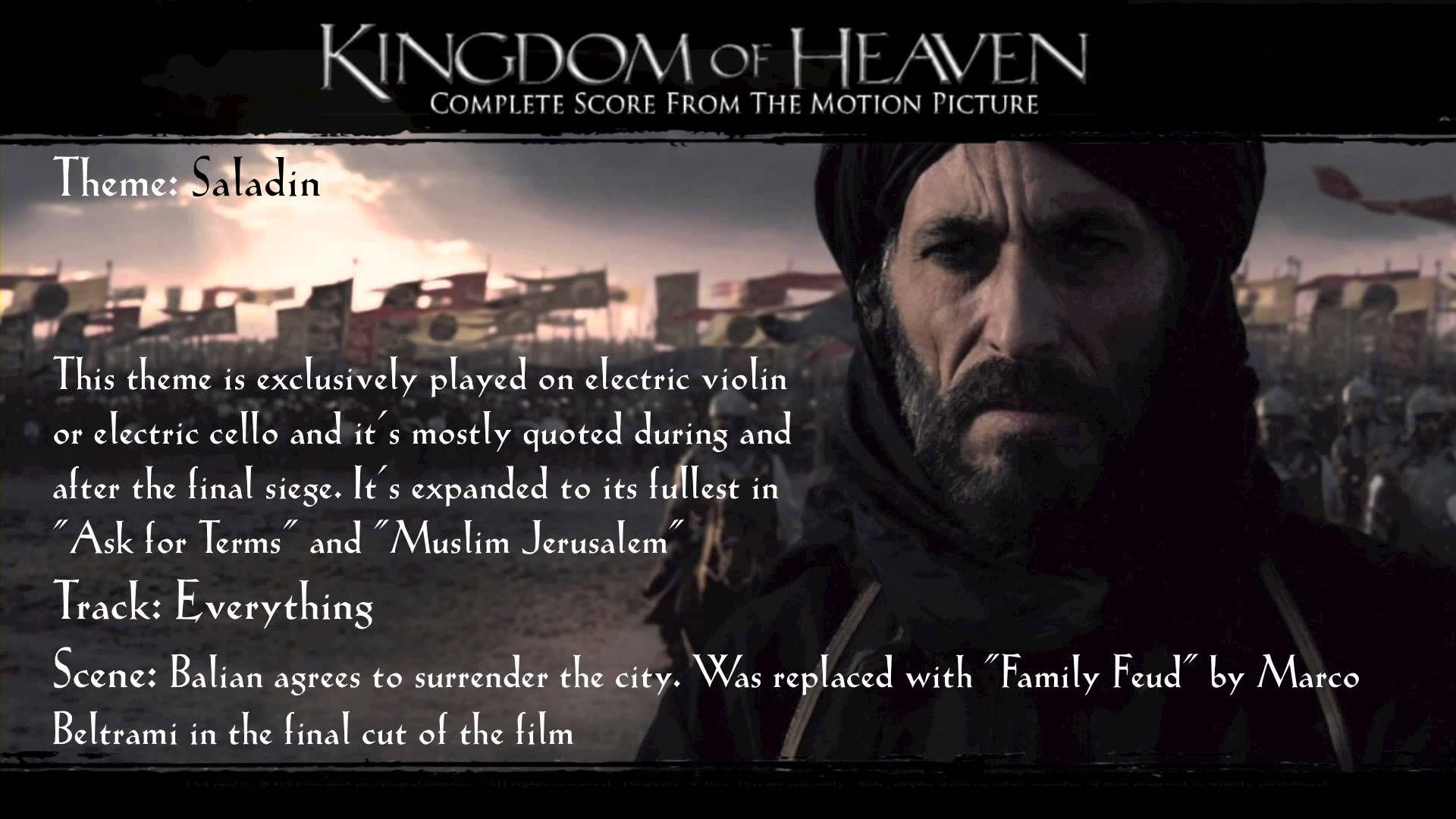 Kingdom Of Heaven Soundtrack Themes Saladin Youtube Kingdom Of Heaven Heaven Quotes Favorite Movie Quotes