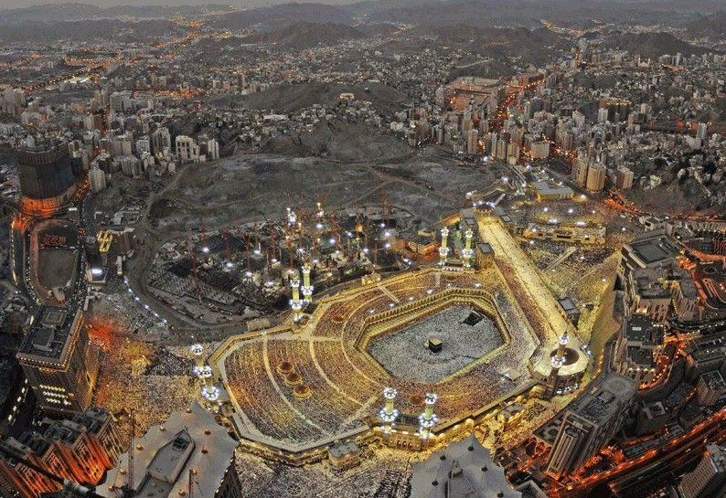 An Aerial View Of Makkah City Birds Eye View City Aerial