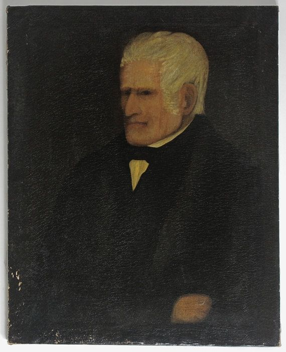 Primitive Folk Portrait of a Gentleman, c.1800-1810