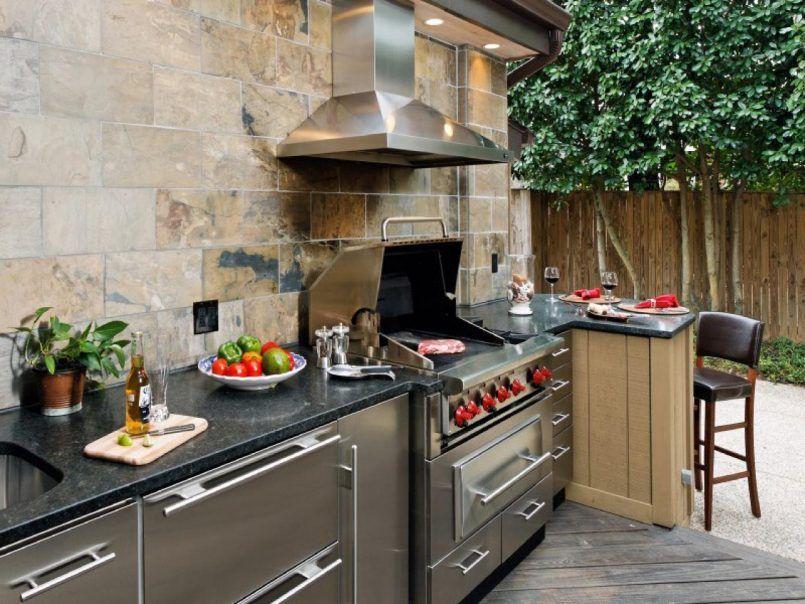 Outdoor Küchen Diy : Backyard build outdoor kitchen island wood vs diy outdoor kitchen