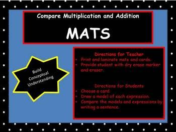 In order to understand multiplication, students need to build their conceptual knowledge.  This activity will deepen understanding of multiplication.  This can be used in whole group, small group, centers, or independently.  This would also be a good resource to use for students on a RtI plan for math.math, centers, Common Core, multiplication, compare, activities