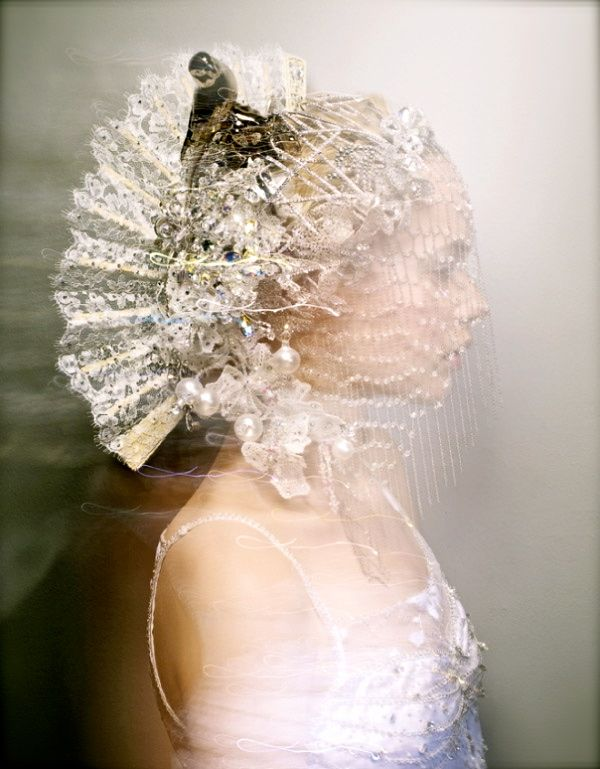 Swarovski CRYSTALLIZED Exhibition, also featured in Unbridaled: The Marriage of Tradition and Avant-garde Headpiece by Alberto Rodriguez