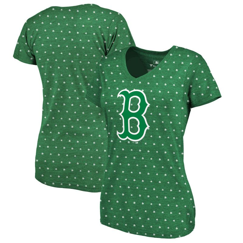 5d448b7b8 Boston Red Sox Fanatics Branded Women's 2018 St. Patrick's Day All Irish  Tri-Blend T-Shirt – Kelly Green