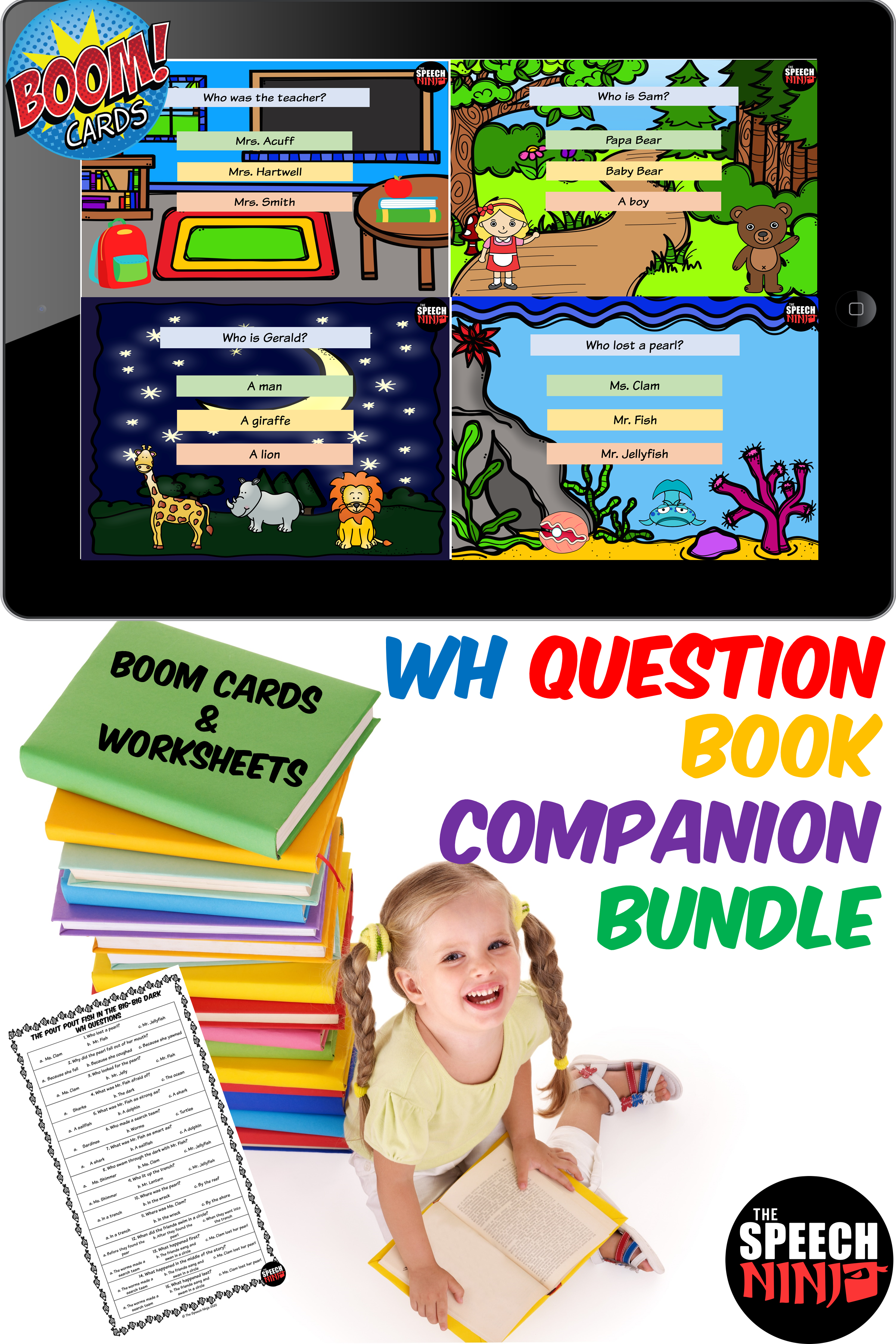 Wh Questions Book Companion Growing Bundle In
