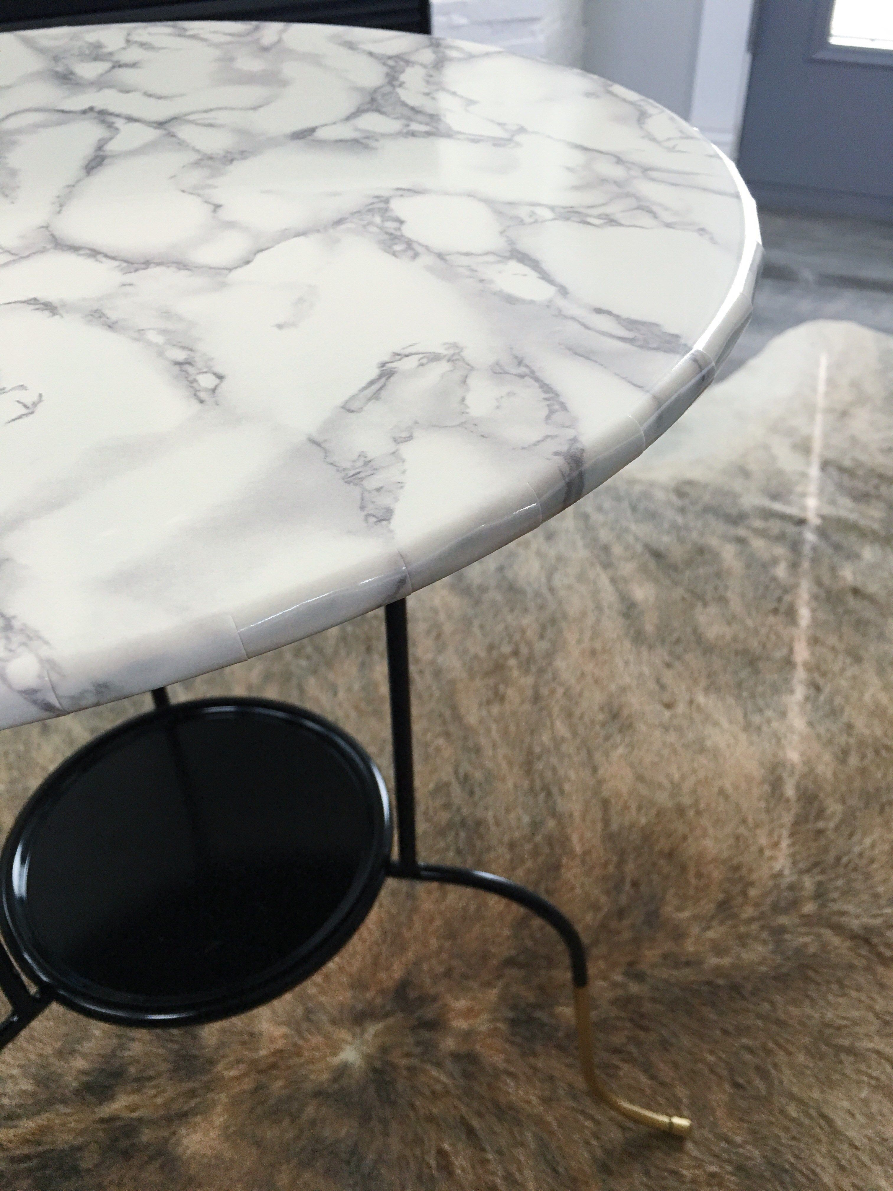 Ikea Hack Lindved Table Marble Top Side Table Marble Contact Paper Closet Ikea [ 4032 x 3024 Pixel ]