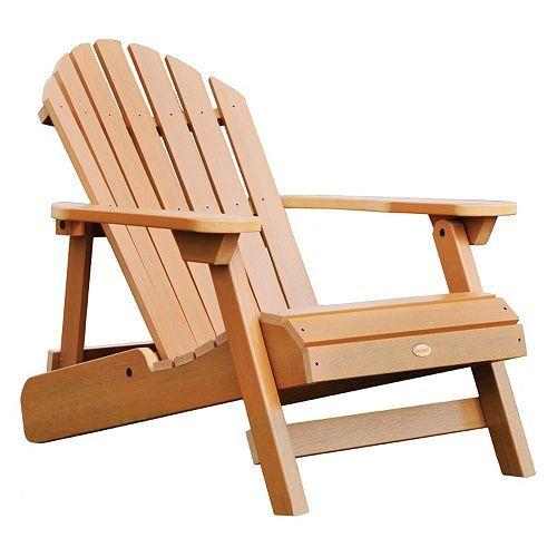 Highwood Hamilton Folding Reclining Adirondack Chair Adult