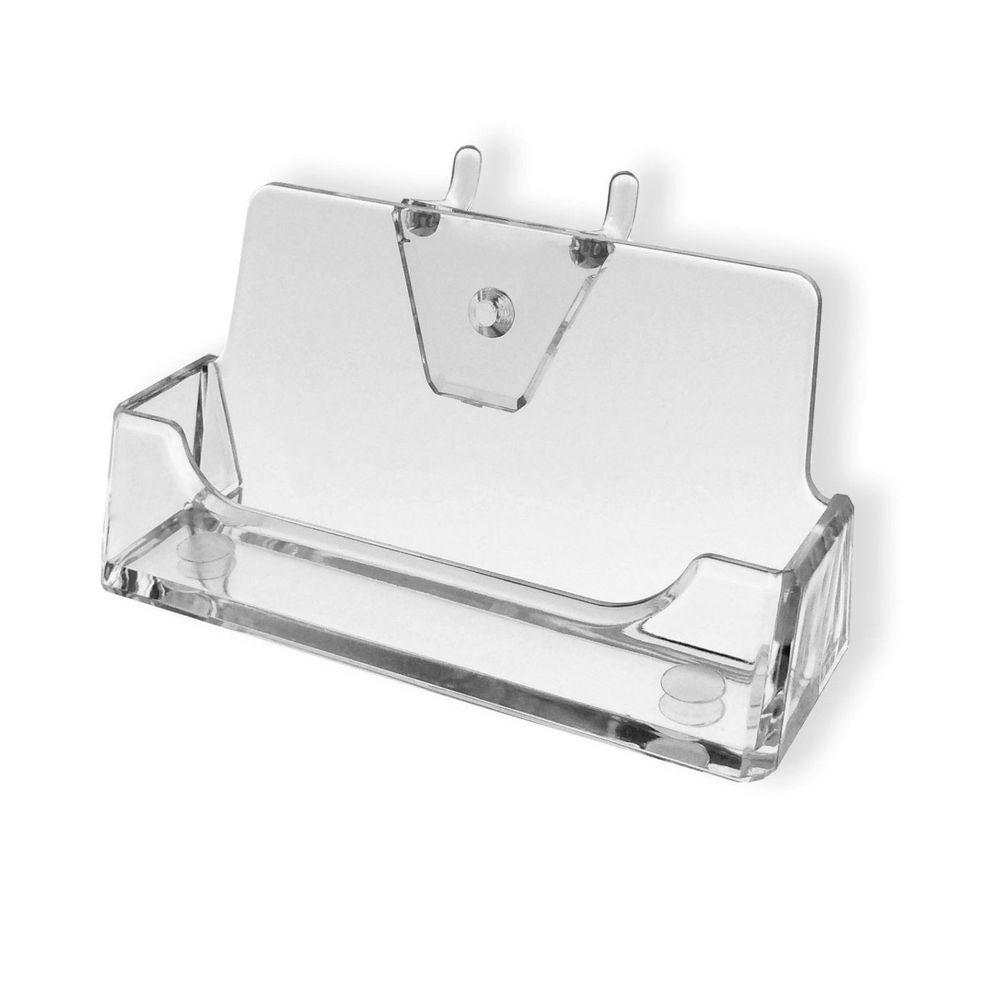Qty 24 Peg Board Business Card Holder Display Rack Pegboard Clear Plastic Business Card Holder Display Business Card Displays Peg Board