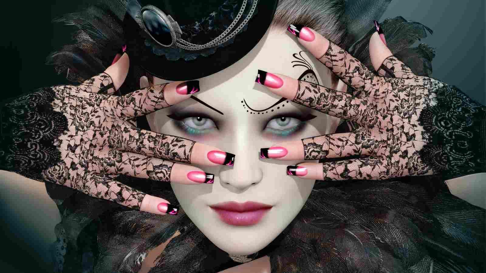 8 رسمات مناكير جريئة عليك تجربتها في عيد الهالوين Halloween Face Makeup Face Makeup Halloween Face