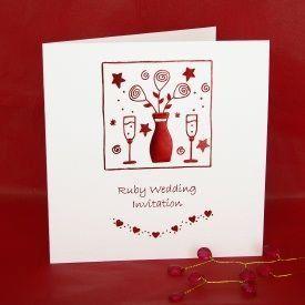 Ruby wedding anniversary invitations pack of 5 jean barrington ruby wedding anniversary invitations pack of 5 jean barrington http stopboris Gallery