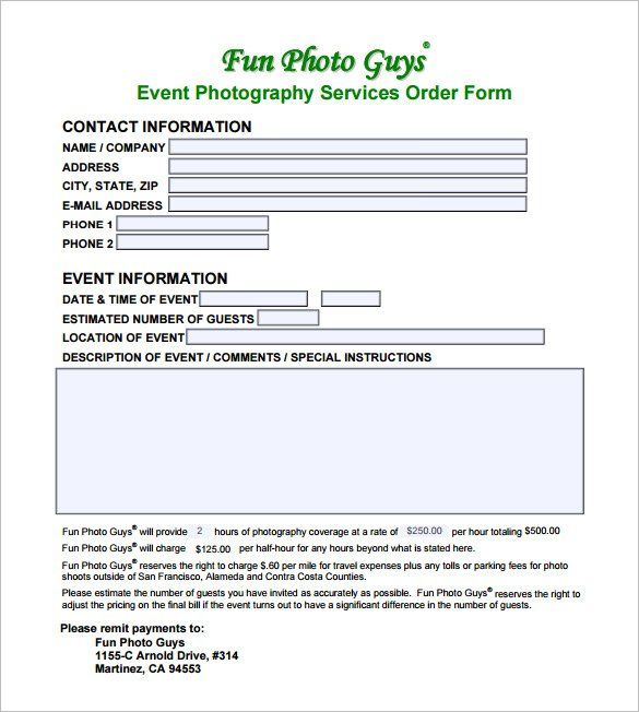 event photography contract Example Event Photography Contract PDF Download , 20  Photography ...