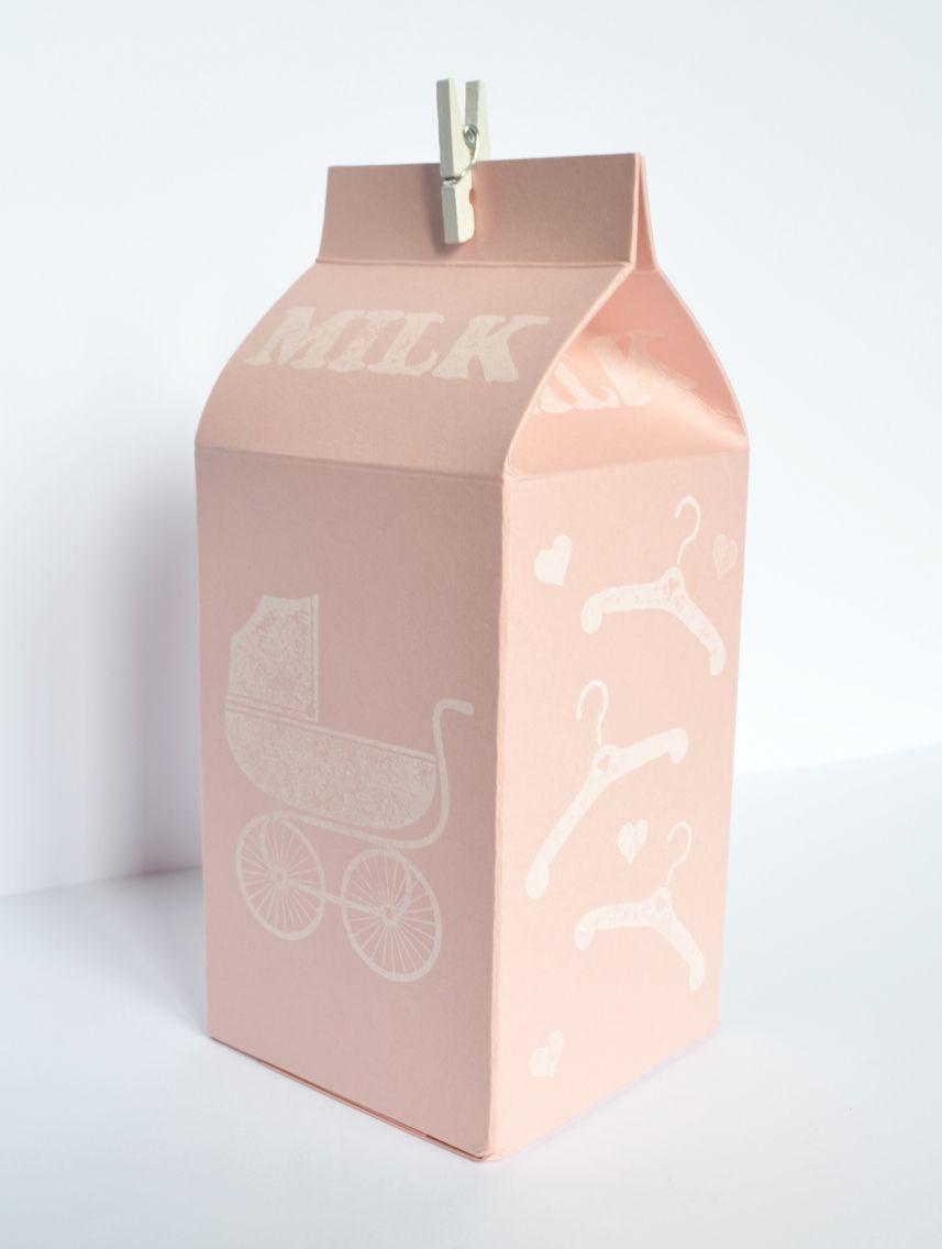 Milk carton with goodies inside