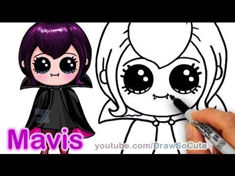 How to Draw Mavis Hotel Transylvania Vampire Girl Cute step by step ...
