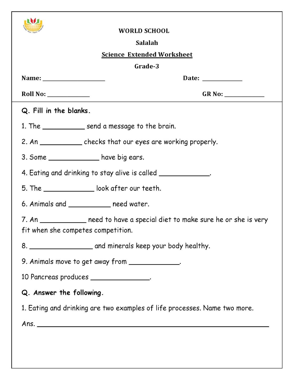 Free Fourth Grade Science Worksheets In 2020 Science Worksheets Fourth Grade Science Free Science Worksheets