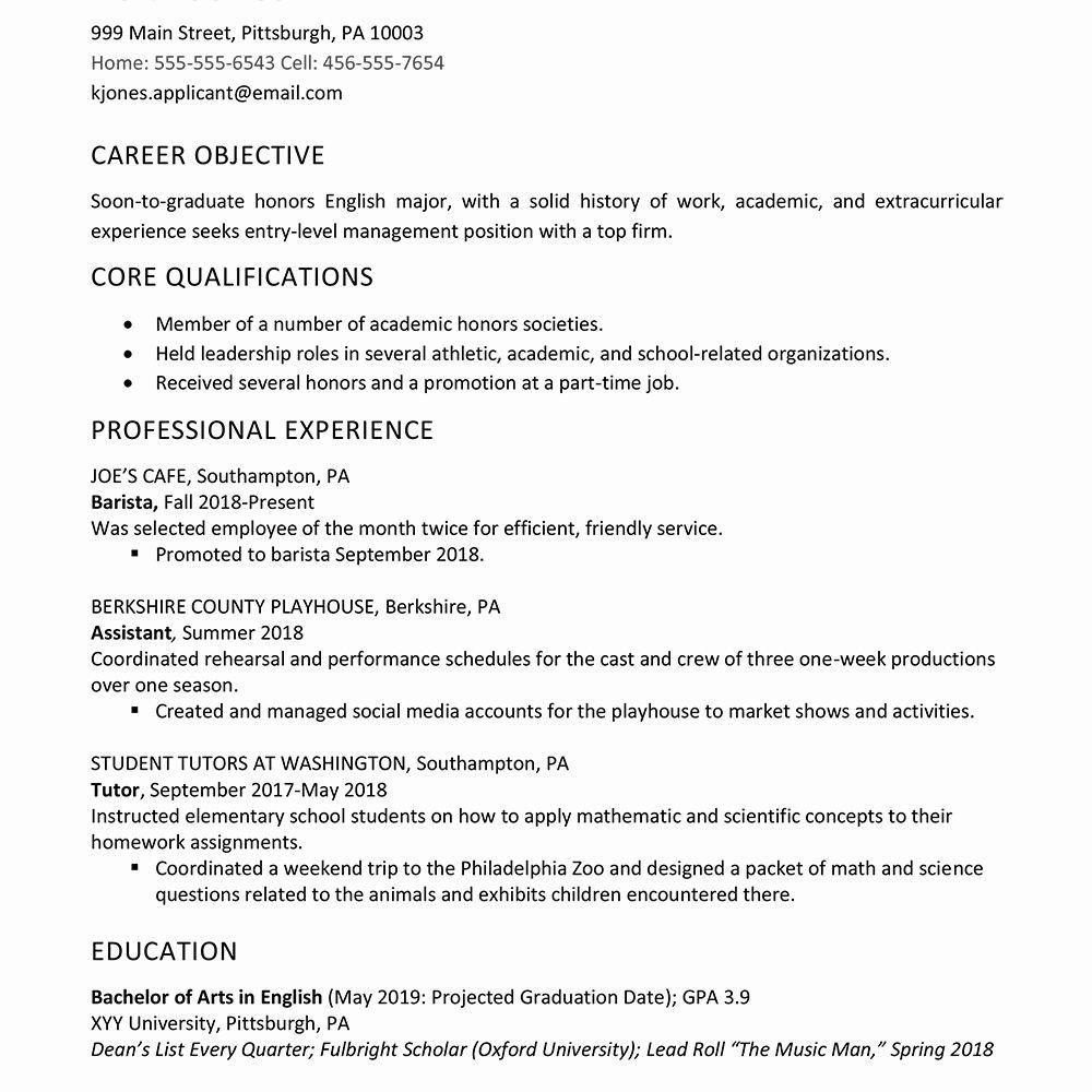 Grad School Resume Template Awesome High School Graduate