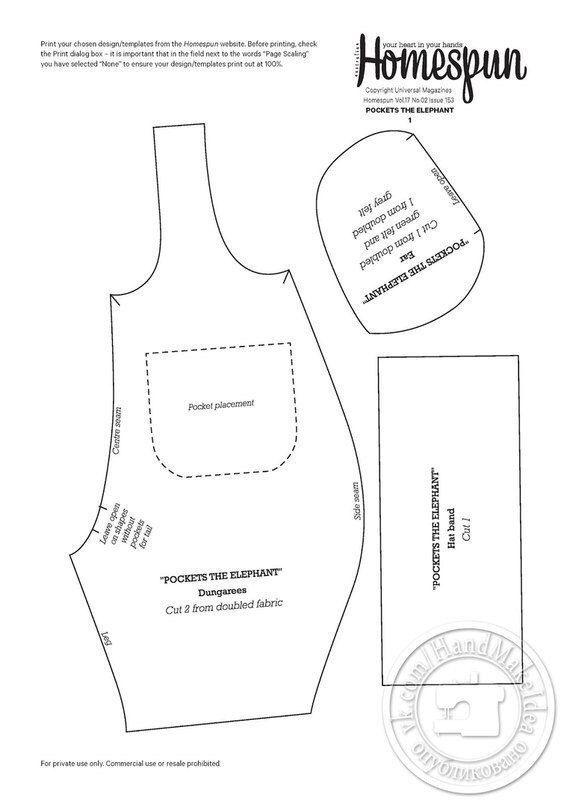 Patrones de costura para hacer un overol para niños