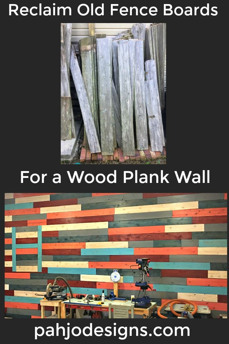 Diy Wood Plank Wall Reclaimed Fence Board Project Easy