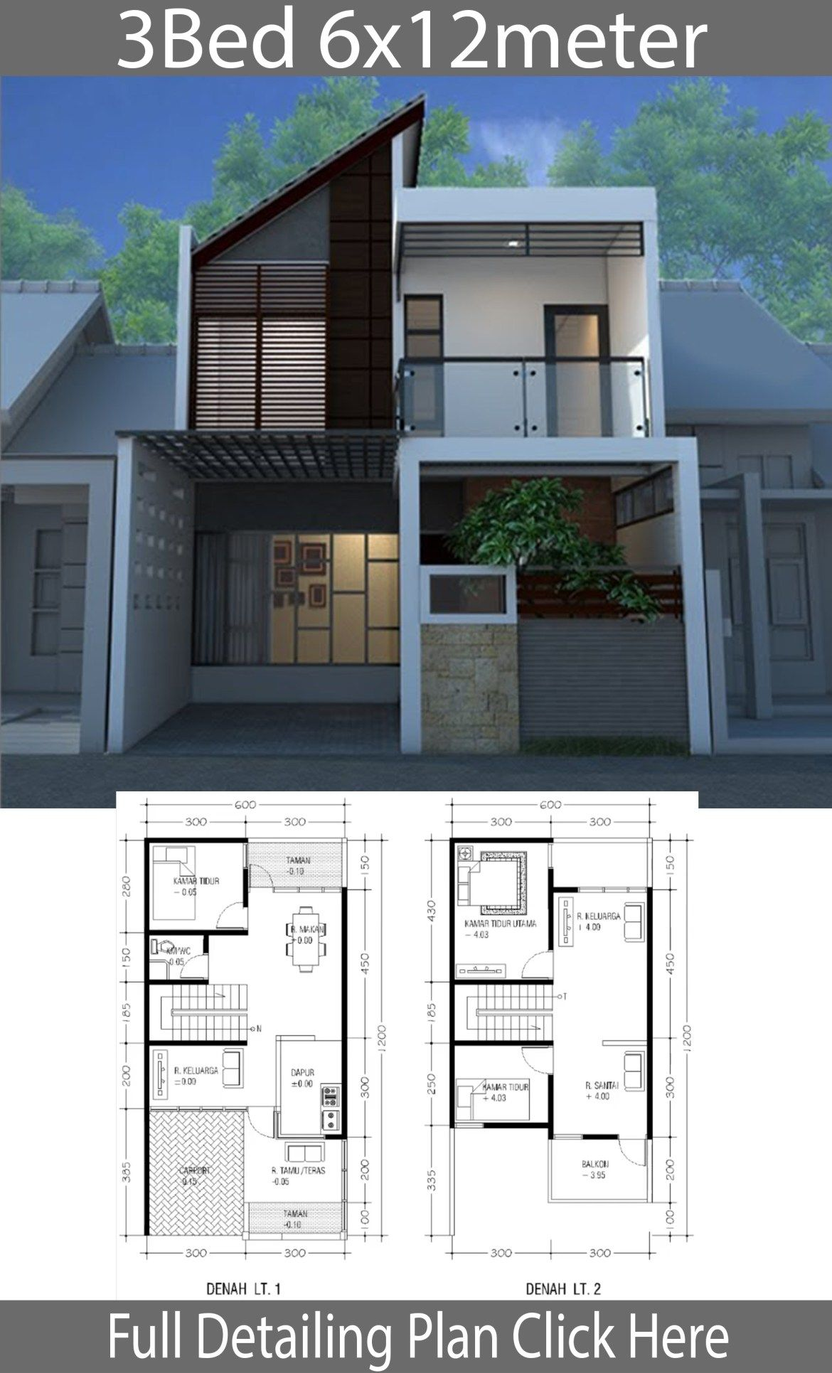 Minimalist Home Design On Land Of 6m X 12m Home Planssearch Architectural House Plans Modern Minimalist House House Layouts