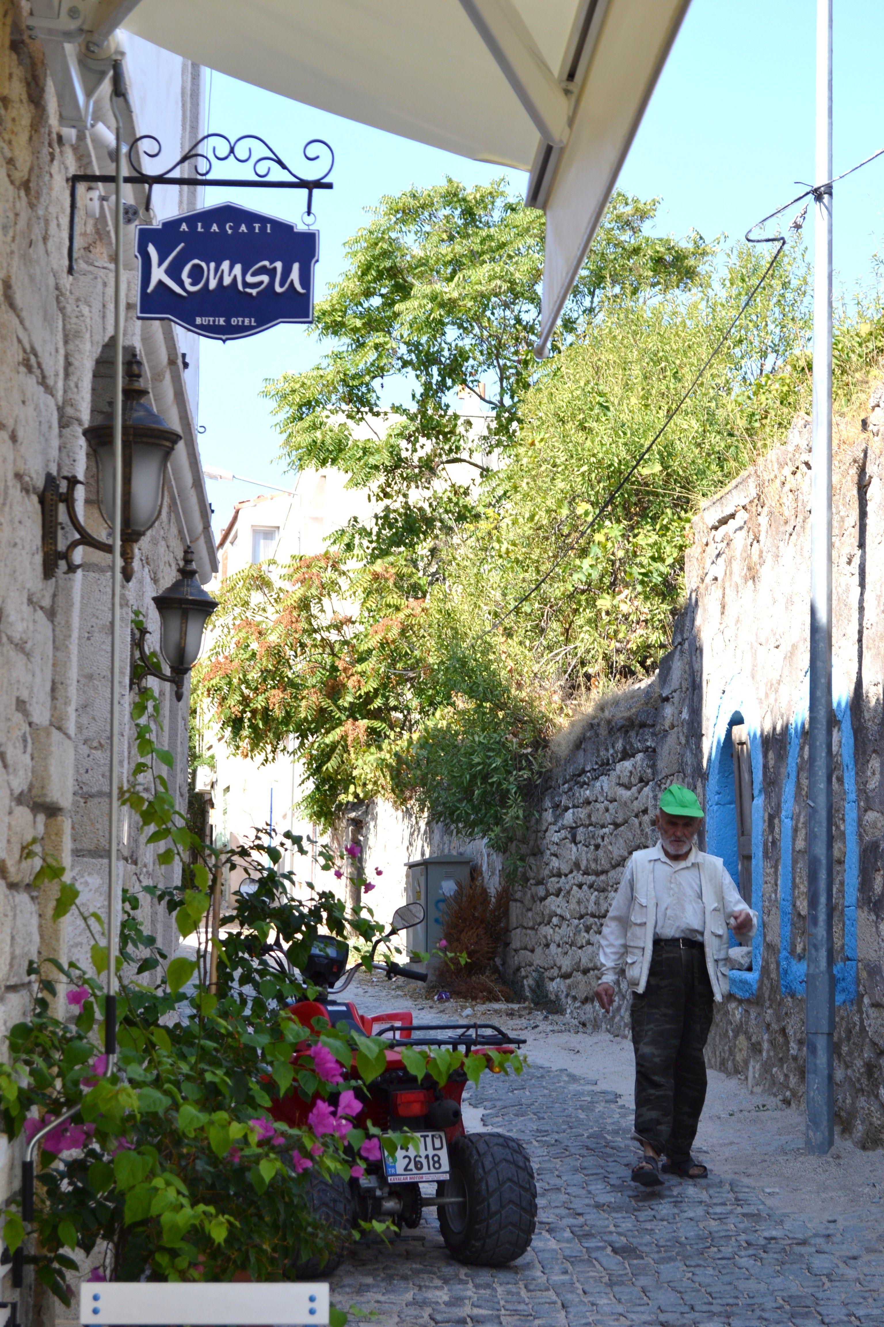 Little street in Alacati, Izmir