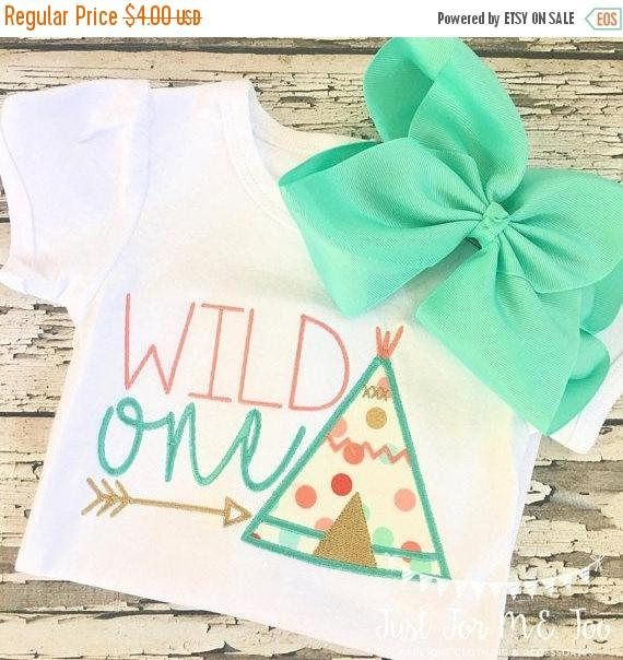 Wild One Teepee Applique 4x4 5x7 Embroidery File Jef File
