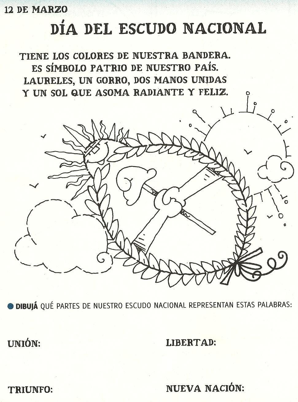 Escudo De Argentina Efemerides Argentinas Carteleras Escolares
