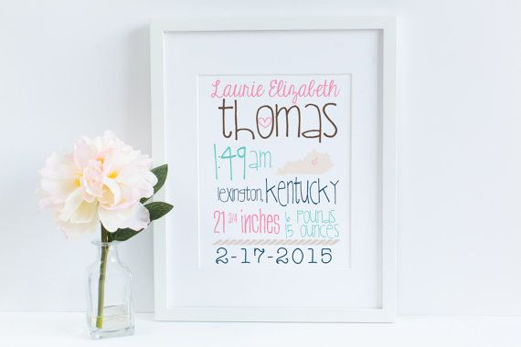 Nautical Baby Announcement Statistic Printable by itsJUSTmyTYPE