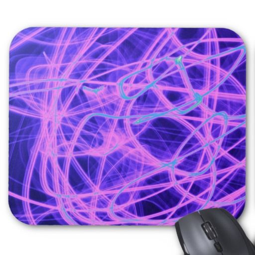 Glowing Blue And Purple Strings Of Light Mouse pad